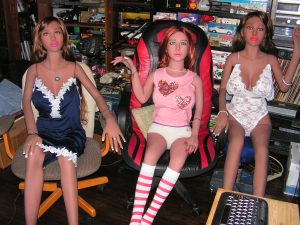 Well here are the three of us Super Hot Dolls all ready for the big slumber party last night. We had